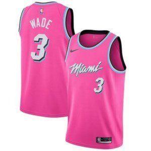 Miami Heat Dwyane Wade Pink #3 Jersey